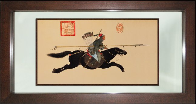 Manchurian Warrior on Horseback